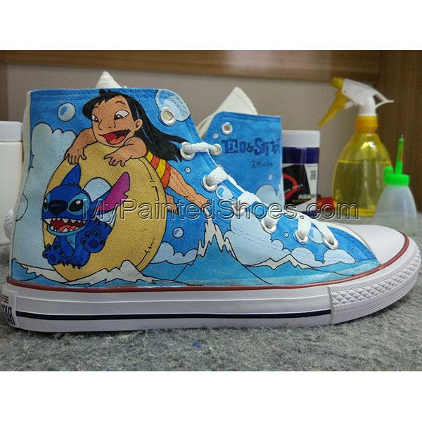 Converse All Star Stitch Shoes Hand Painted Shoes Men Women's-3