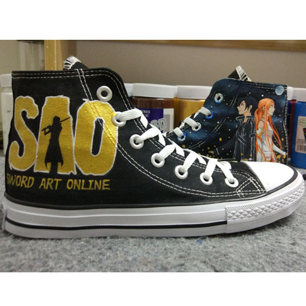 Sword Art Online  Anime Converse Anime SAO Hand Painted Sneakers