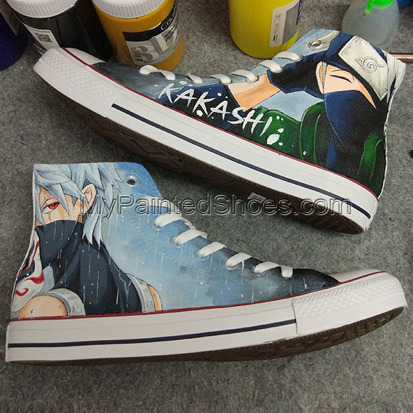 Kakashi Anime Converse Naruto All Star Hand Painted Shoes Anime-1