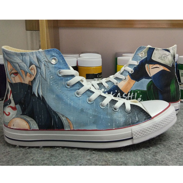 Kakashi Anime Converse Naruto All Star Hand Painted Shoes Anime