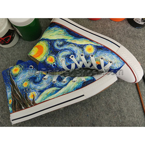 Starry Night Custom Converse All Stars Hand Painted Converse All-2