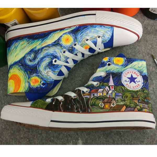 Starry Night Custom Converse All Stars Hand Painted Converse All