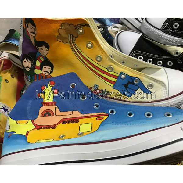 Unique Gifts Men Women Converse The Beatles Hand Painted Canvas-1