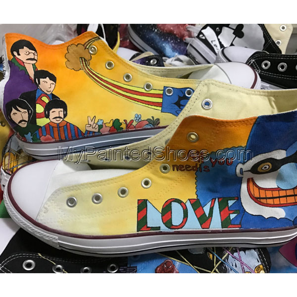Unique Gifts Men Women Converse The Beatles Hand Painted Canvas-2
