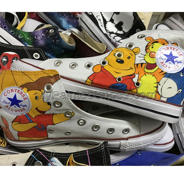 Converse Snow White Hand Painted Canvas Sneakers for Men-2