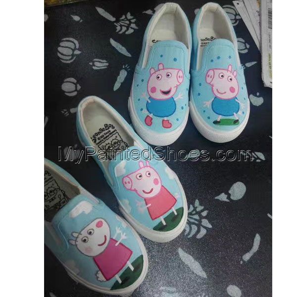 Peppa Pig Hand Painted Slipon Shoes-1