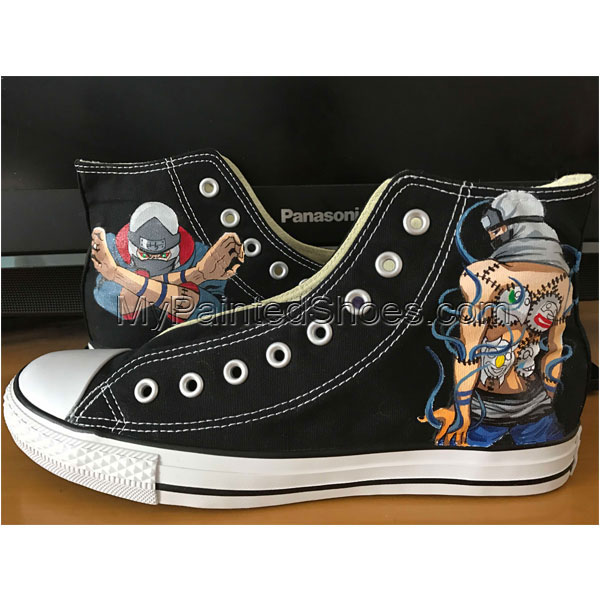 Men Women Hand Painted Canvas Shoes Design Naruto Anime Converse