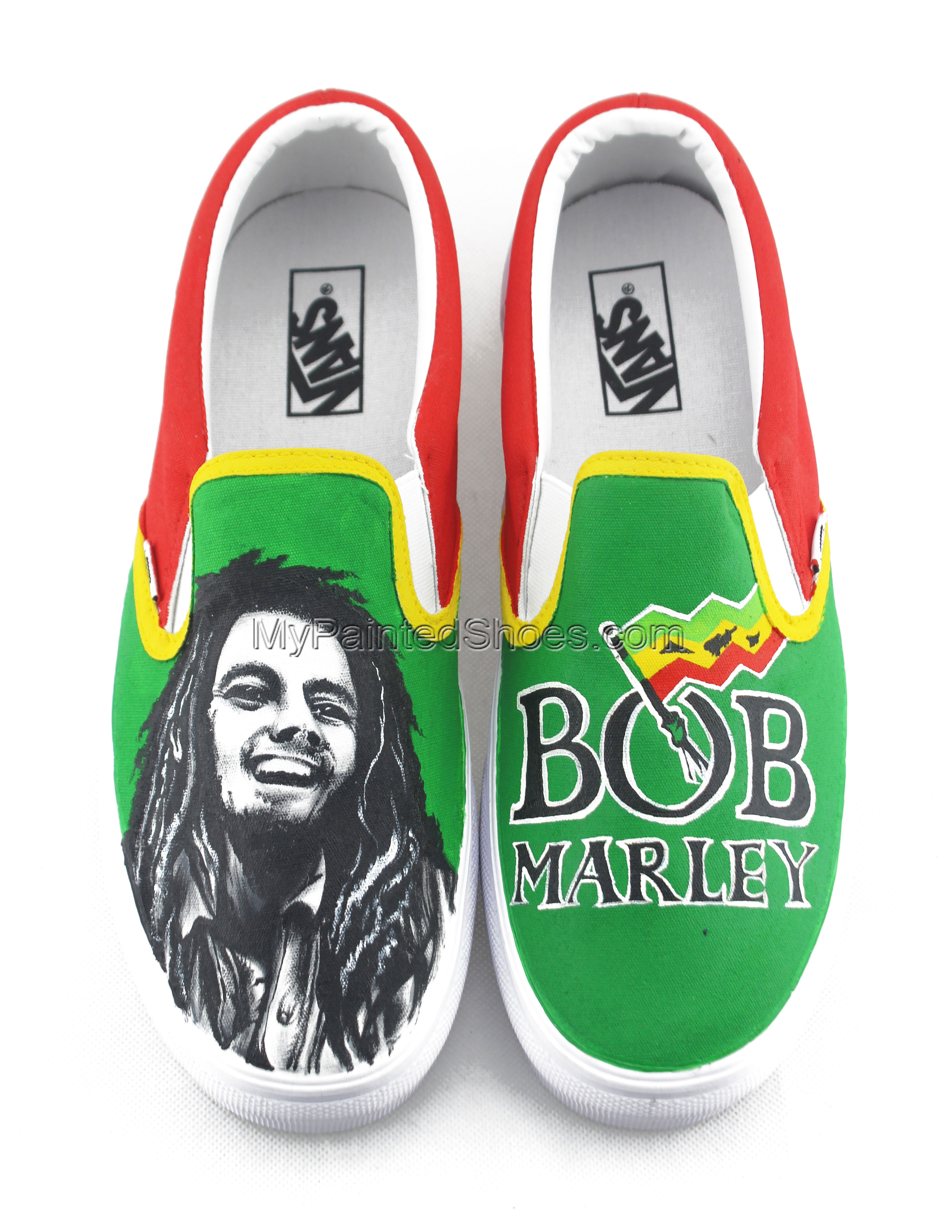Vans Custom Sneakers Bob Marley Painted Shoes-2