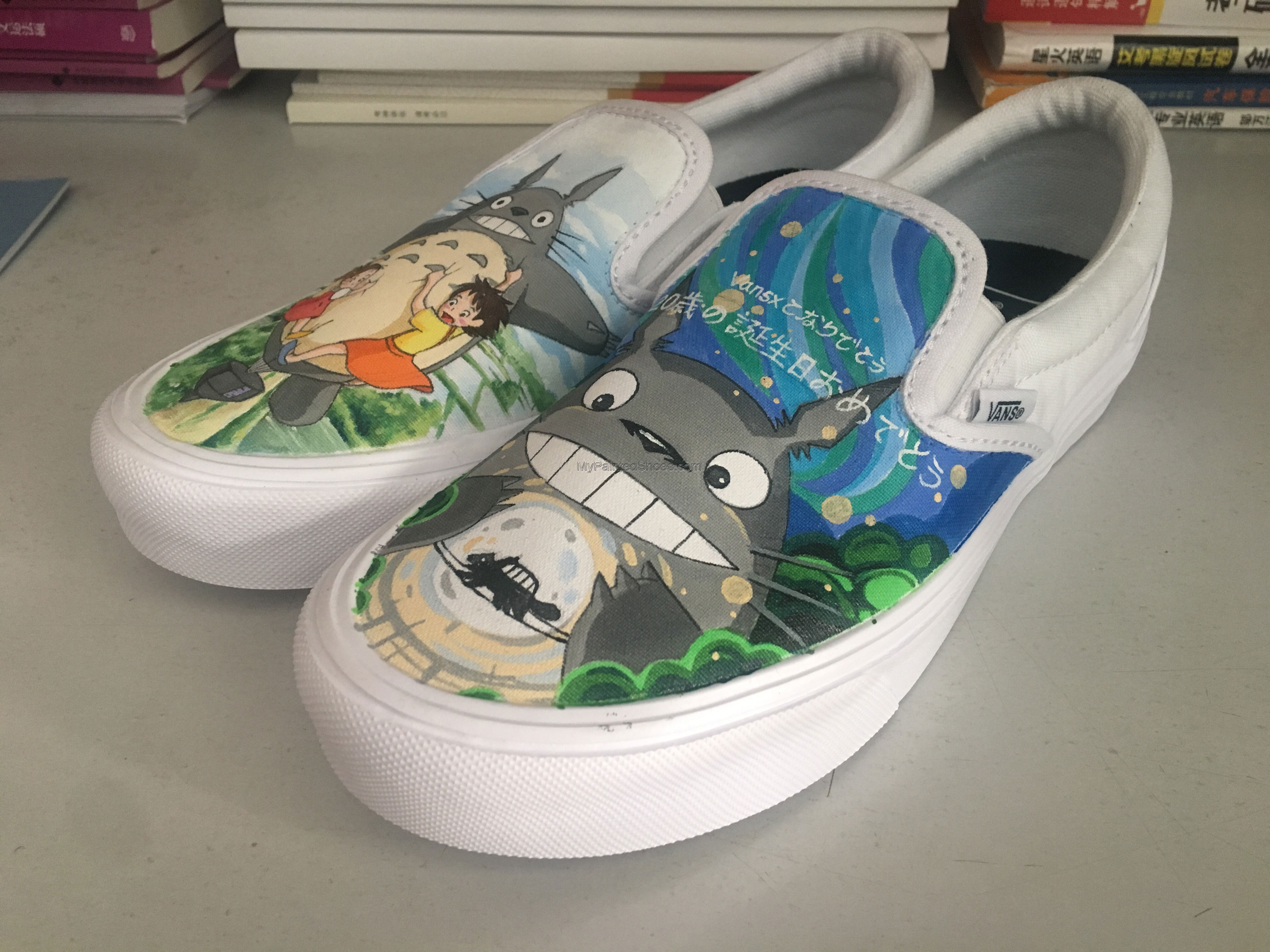 totoro painted shoes for sale totoro anime hand painted shoes-1