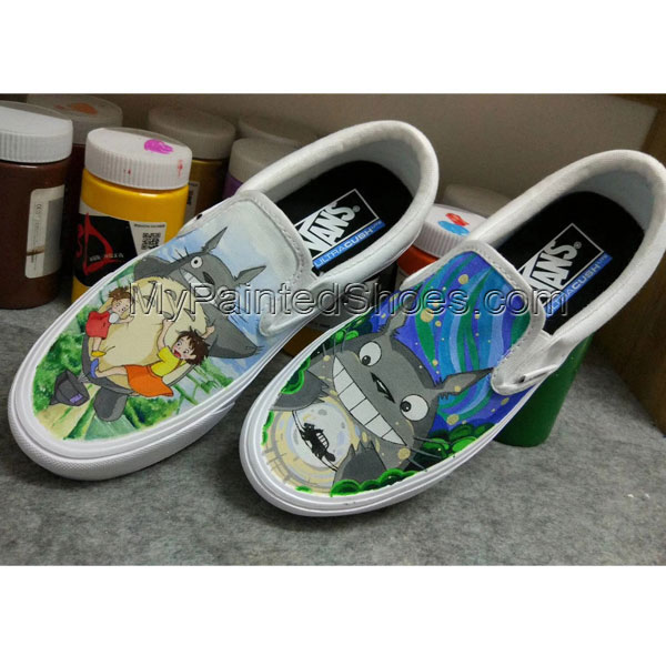 totoro painted shoes for sale totoro anime hand painted shoes