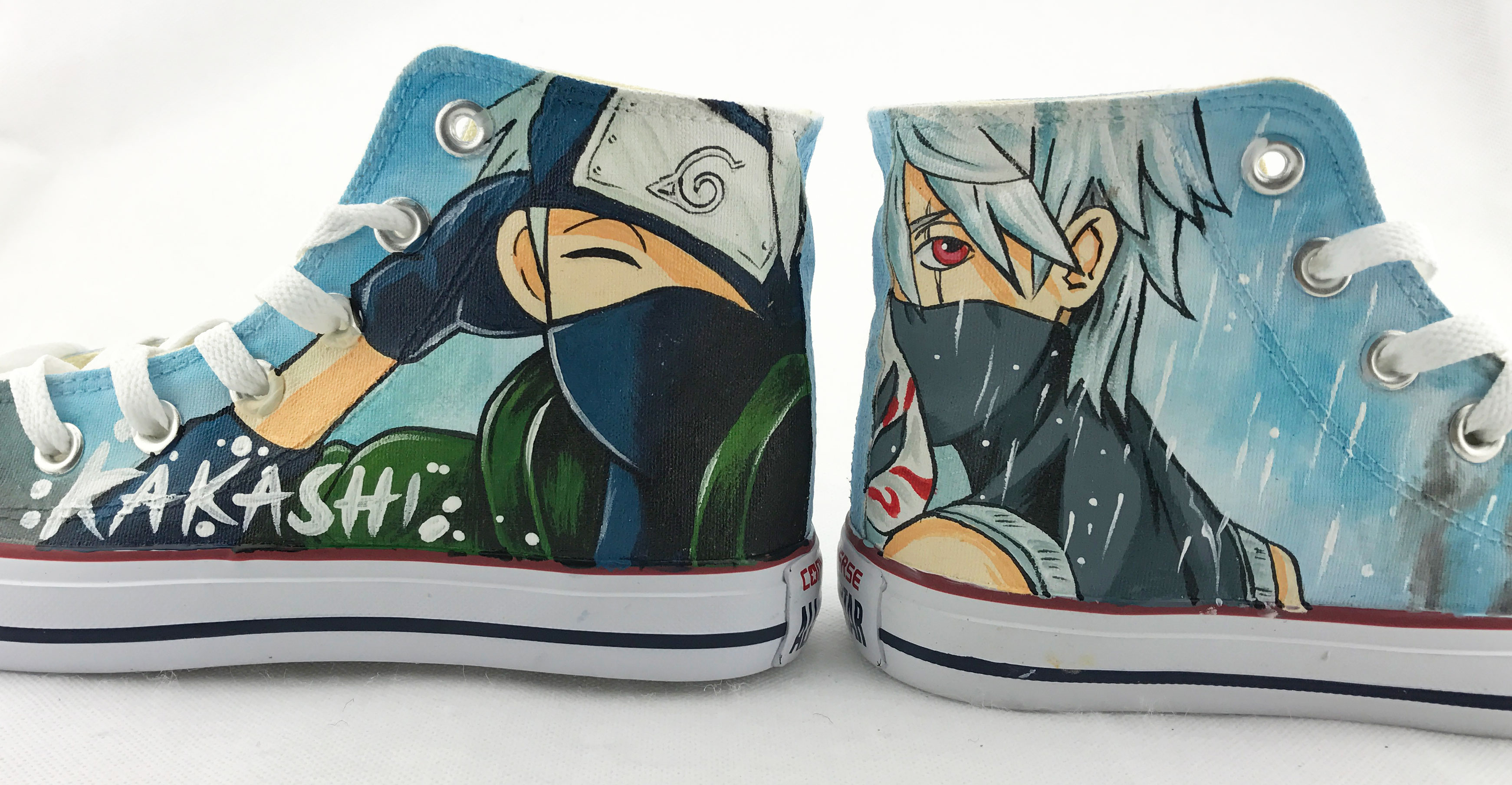 Customizable Womens Shoes Kakashi Hand Painted Anime Shoes Narut-2