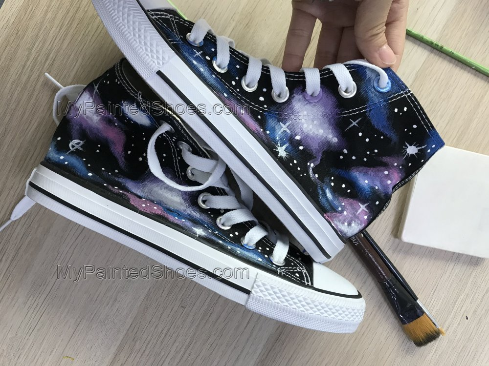 Custom Galaxy Sneakers Personalized Galaxy Shoes-1