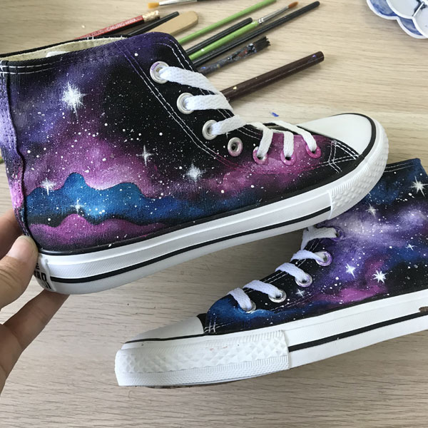 Custom Galaxy Sneakers Personalized Galaxy Shoes