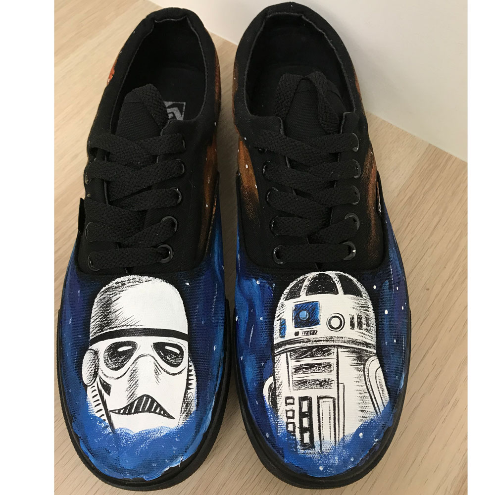 Star Wars Custom Vans Authentic Custom Painted Star Wars Inspire