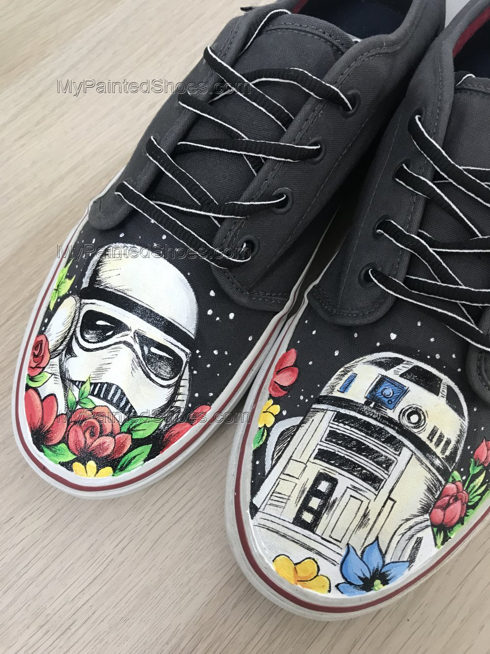 Custom Painted Star Wars Inspired Vans Custom Painted Shoes-3