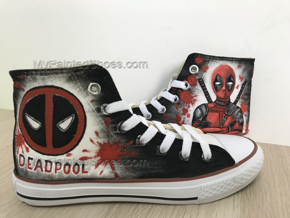 Custom Deadpool Chuck Taylors Shoes Painted Shoes Sneakers-1