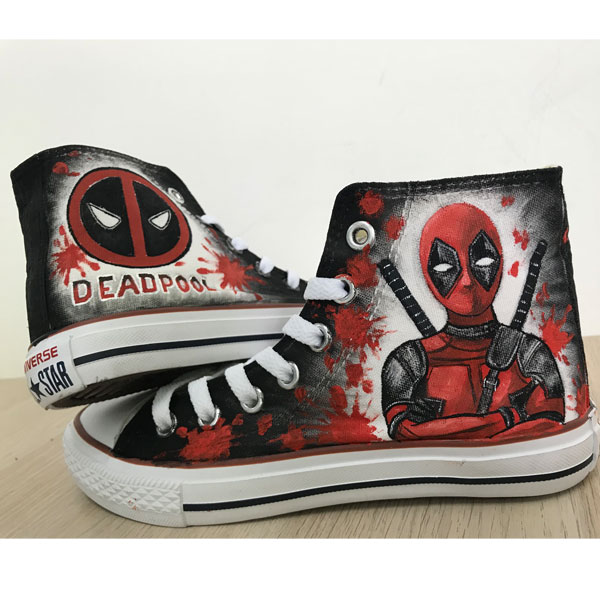 Custom Deadpool Chuck Taylors Shoes Painted Shoes Sneakers