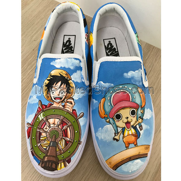 One Piece Vans Anime Vans Custom Vans Hand Painted Shoes