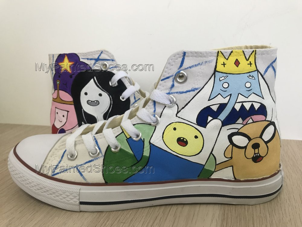 Adventure Time Anime Shoes Hand Painted Shoes Anime Chuck Taylor-1