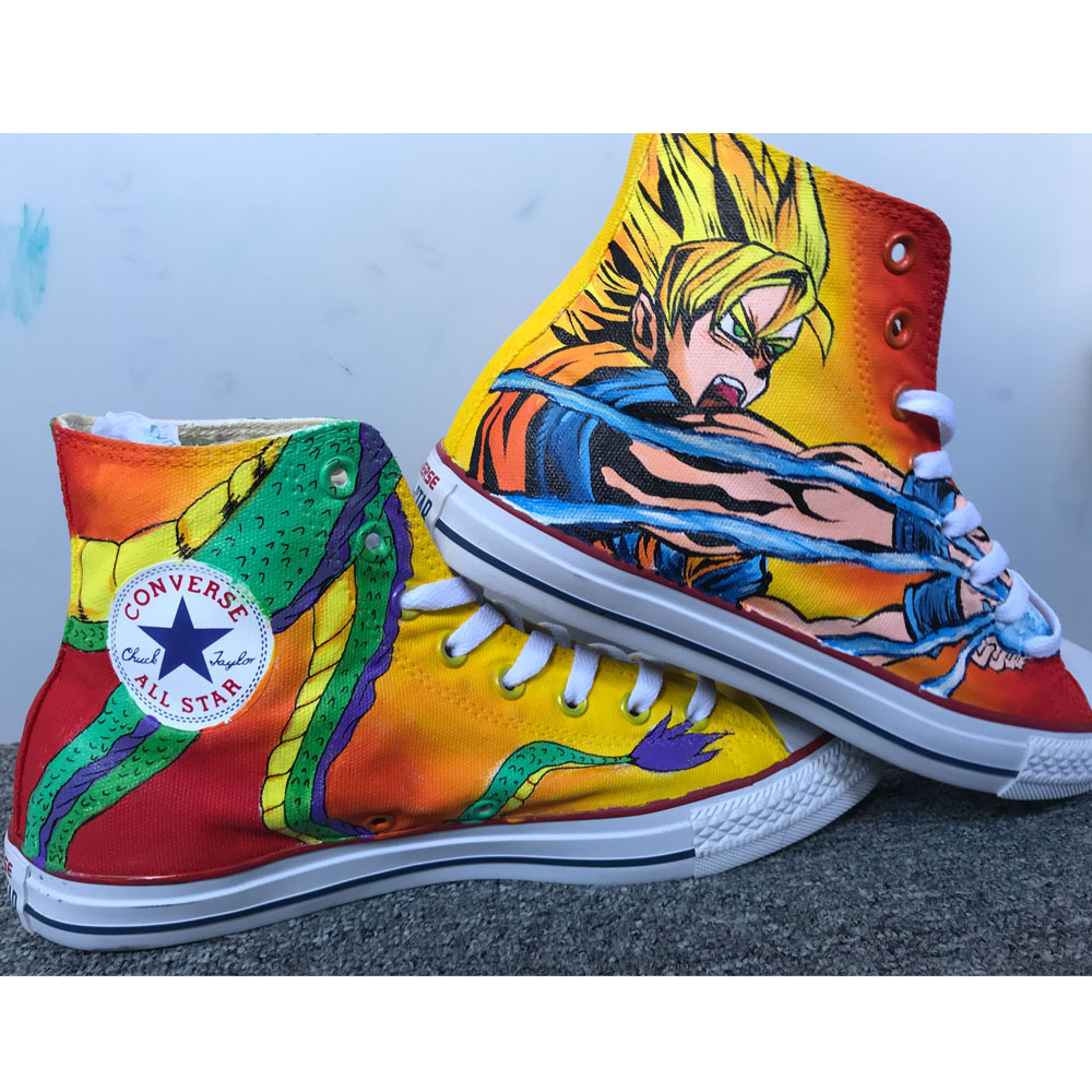 Dragon Ball Z Anime Shoes Sneakers Women's Men's Kid's Hi Tops-2