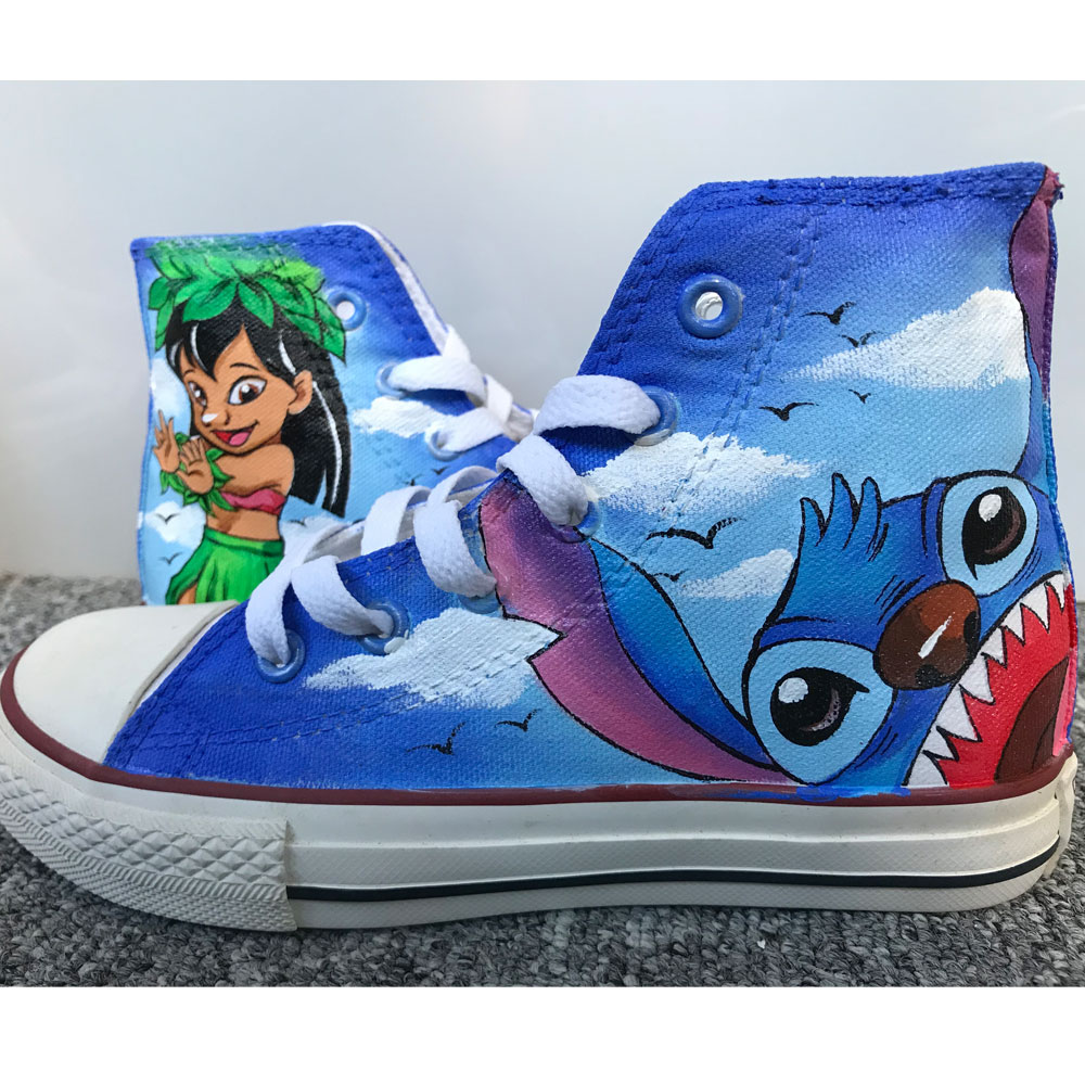 Lilo and Stitch Shoes Hand Painted Shoes Anime Shoes Custom Shoe-2