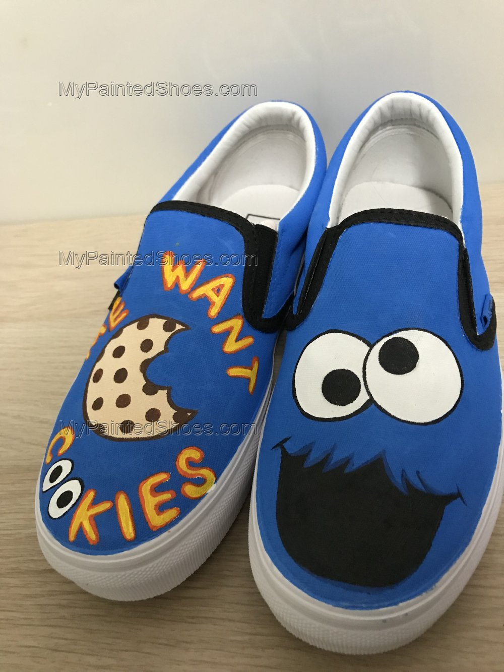 Cookie Monster Hand Painted Shoes Anime Shoes Custom Shoes-3