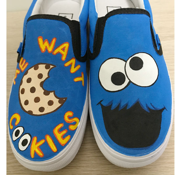 Cookie Monster Hand Painted Shoes Anime Shoes Custom Shoes