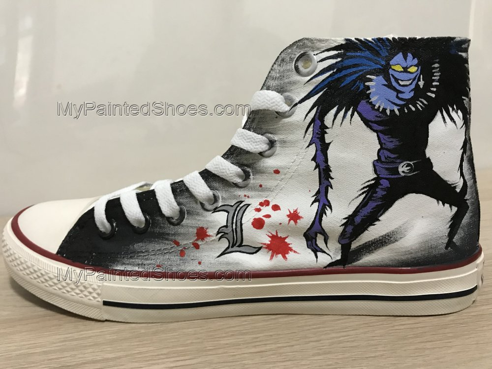 Death Note Ryuk Anime Shoes L Death Note Hand Painted Shoes-3