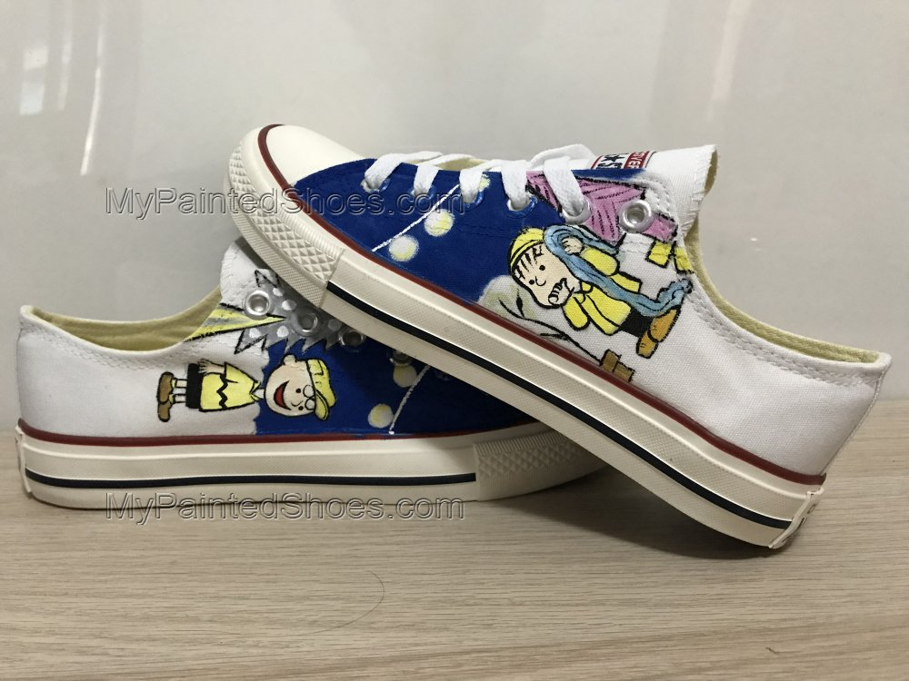 Snoopy Anime Shoes For Women Hand Painted Shoes Custom Shoes-1