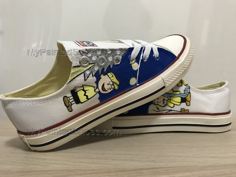 Snoopy Anime Shoes For Women Hand Painted Shoes Custom Shoes-2