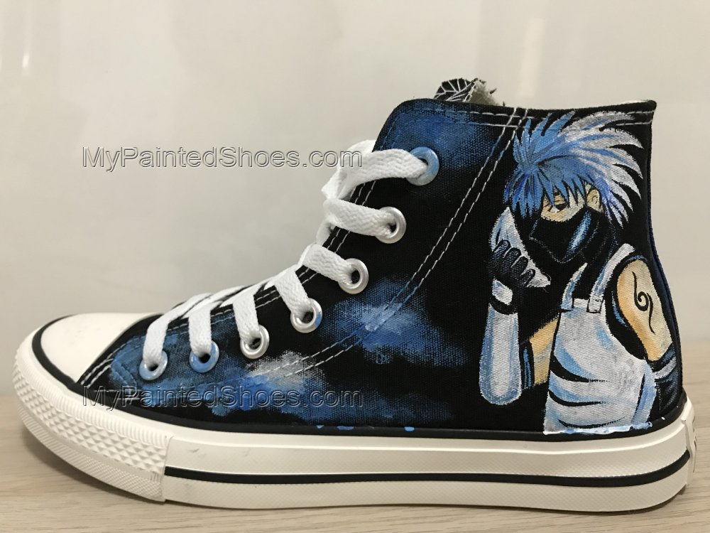 Naruto Kakashi Anime Shoes High Top Sneakers For Women-2