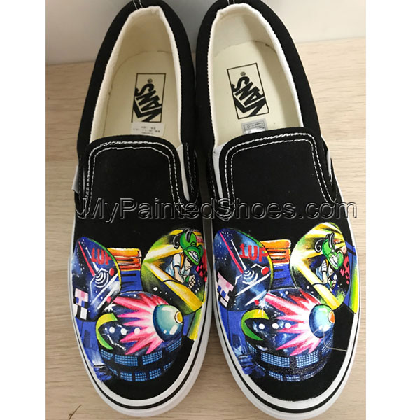 Deadmau5 Head Vans Hand Painting Shoes Sneakers