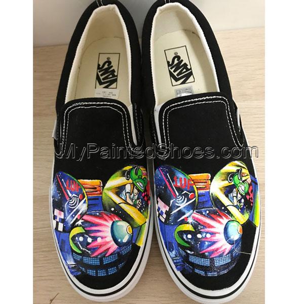 Deadmau5 Head Vans Hand Painting Shoes Sneakers