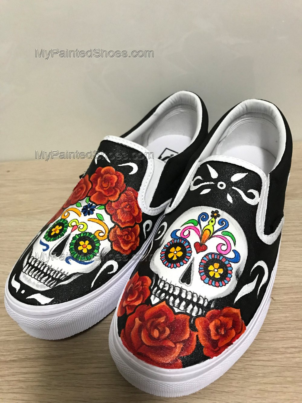 Skull Vans Shoes Custom Vans Sneakers-1