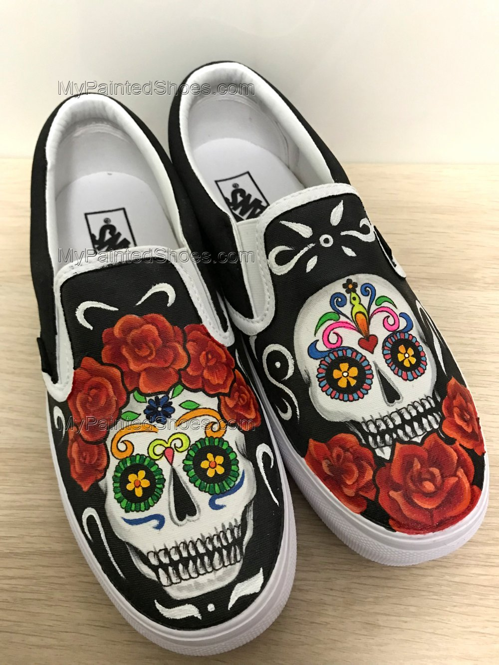 Skull Vans Shoes Custom Vans Sneakers-2