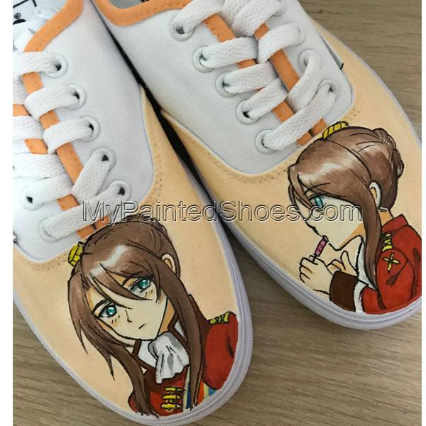 Custom Hand Painted Vans Authentic Custom Girls Vans Sneakers