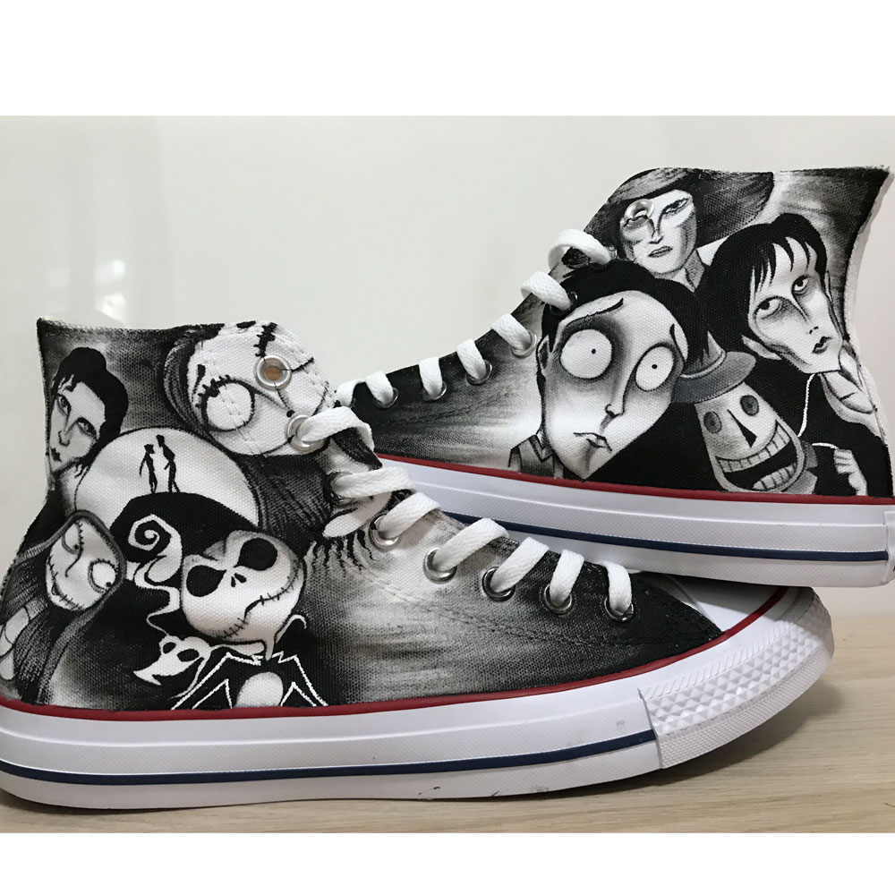 Nightmare Before Christmas Hand Painted Shoes Tim Burton Shoes-1