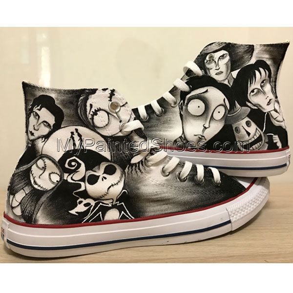 Nightmare Before Christmas Hand Painted Shoes Tim Burton Shoes