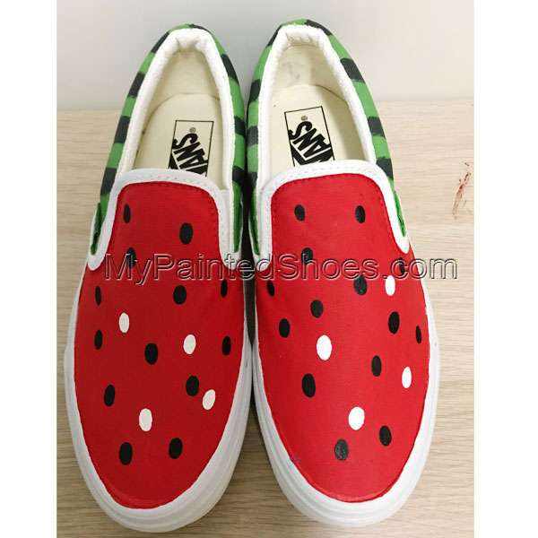 Custom Vans Watermelon Shoes Hand Painted Canvas Shoes