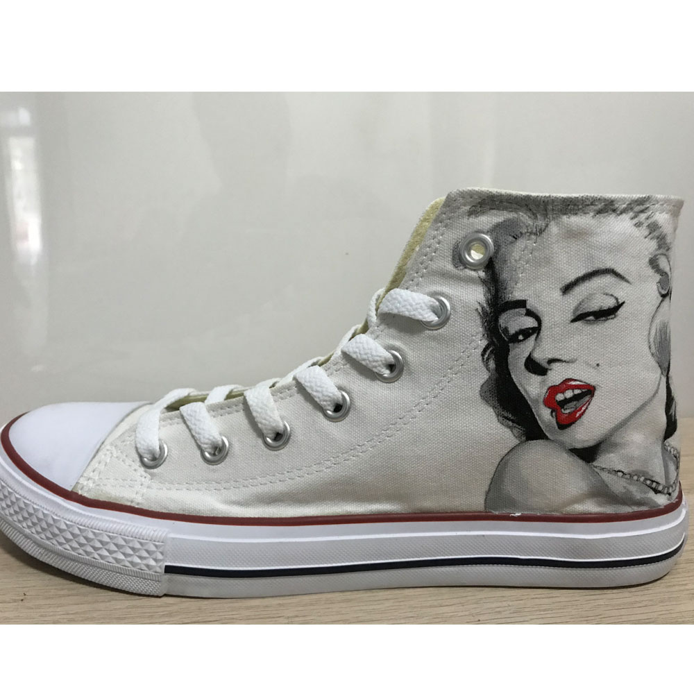 Marilyn Monroe Handpainted Shoes Marilyn Monroe Chuck Taylors-1