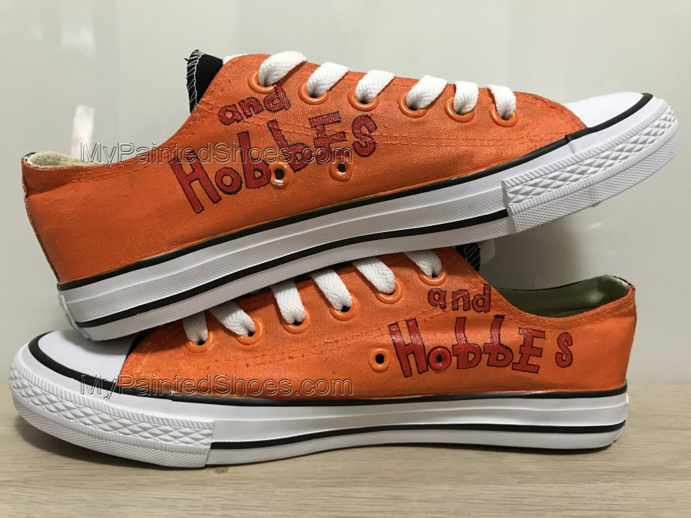 Calvin and Hobbes Anime Shoes Hand Painted Shoes-1