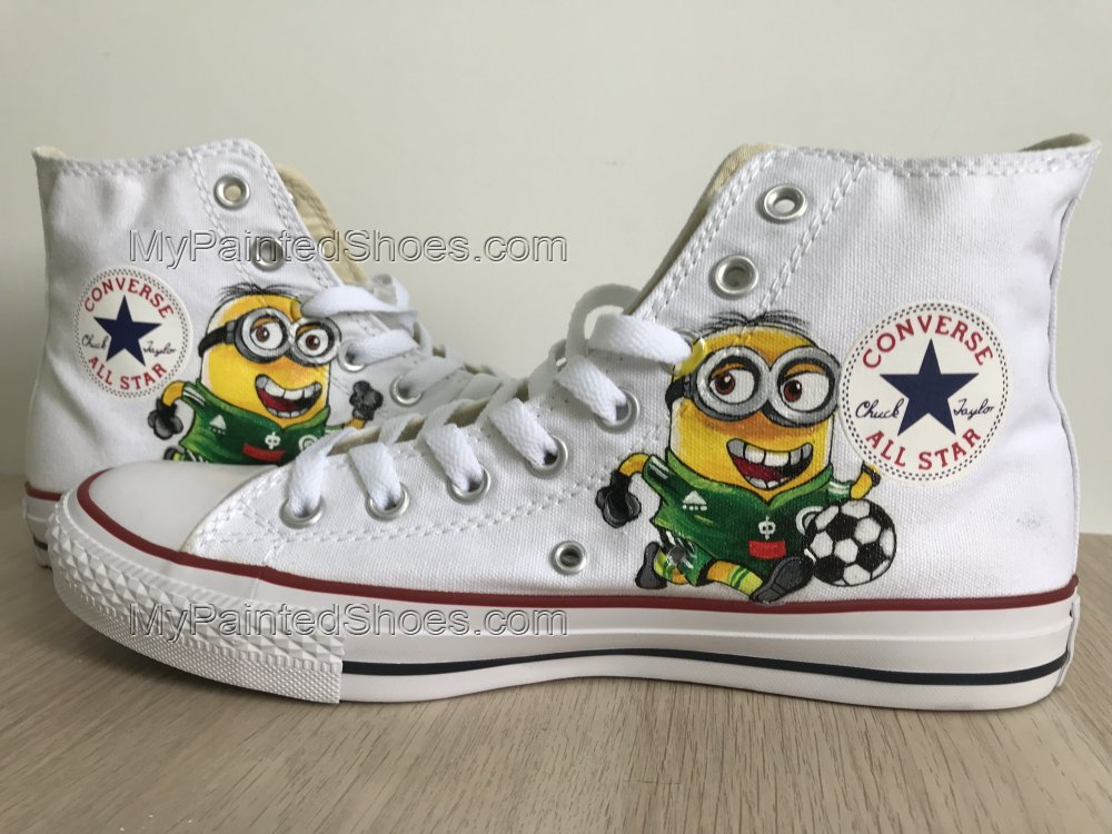 Minions Shoes Customised Hi Tops Shoes Despicable Me Custom Pain-1