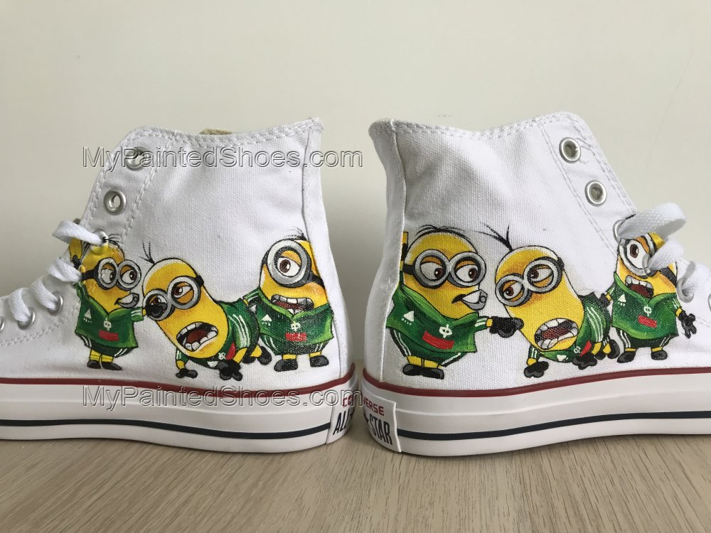 Minions Shoes Customised Hi Tops Shoes Despicable Me Custom Pain-3
