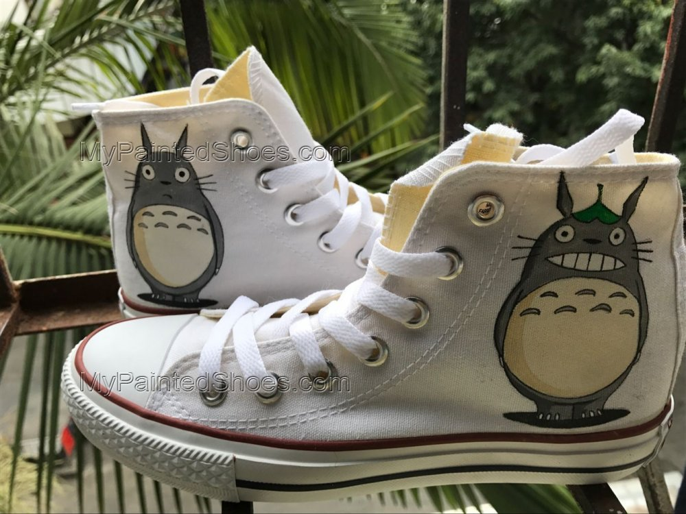 Totoro Shoes Totoro High Tops Totoro Sneakers Anime Shoes-3