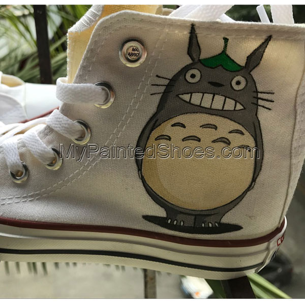 Totoro Shoes Totoro High Tops Totoro Sneakers Anime Shoes