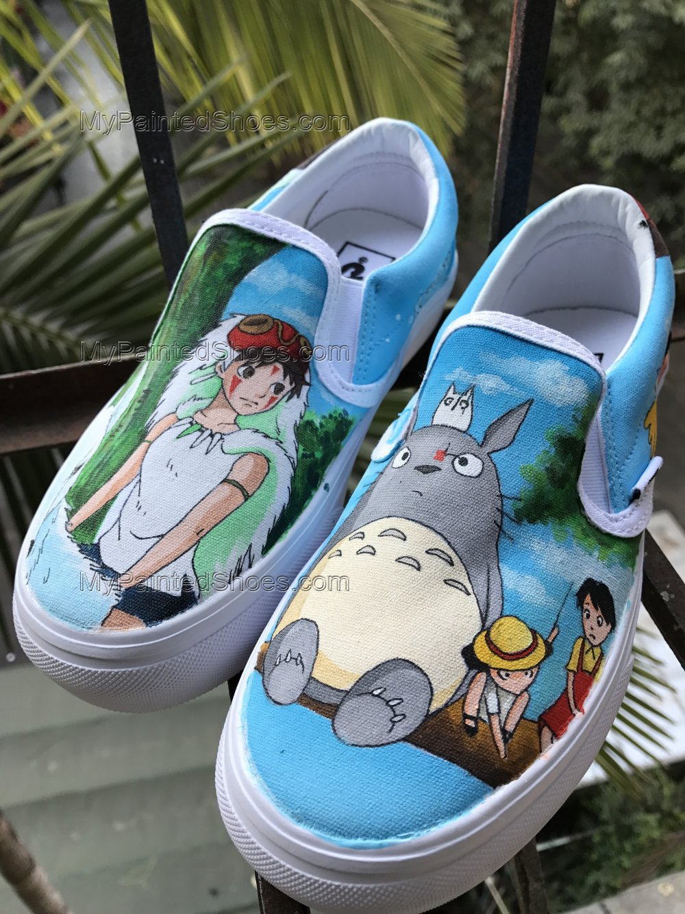 Spirited Away Custom Vans My Neighbor Totoro Vans Slipon Custom-1