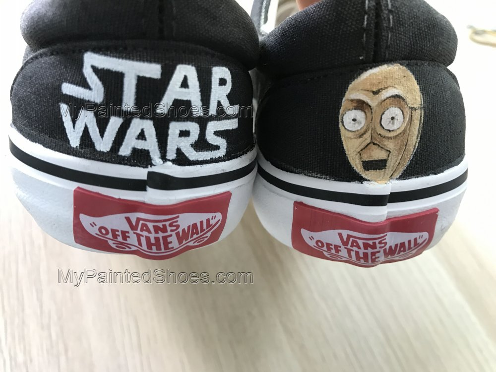Star Wars Custom Vans Authentic Custom Shoes Vans Authentic-2