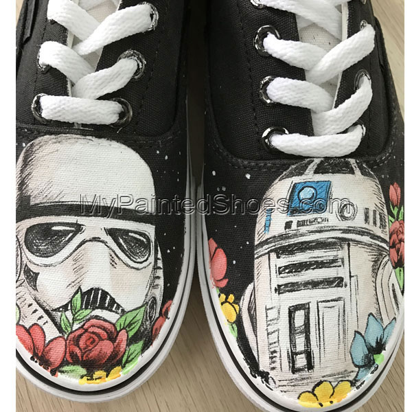 Star Wars Custom Vans Authentic Custom Shoes Vans Authentic
