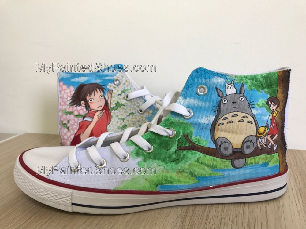 My Neighbor Totoro High Tops Totoro Sneakers Anime Shoes-1