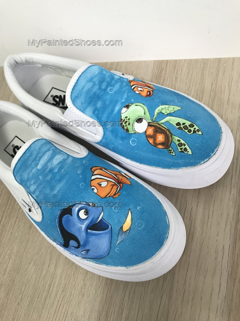 Finding Nemo Vans Custom Hand Painted Shoes-2